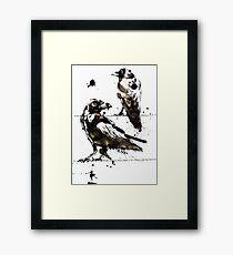 Hugin & Munin Framed Print