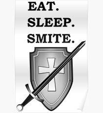 EAT SLEEP SMITE PALADIN 5E RPG Meme Class Poster
