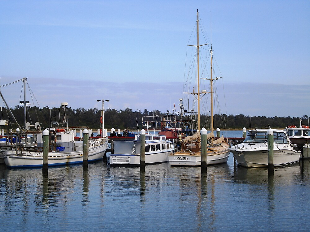 Moored Boats by Chris Kean