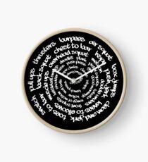 Crossfit - Spiralwörter Uhr