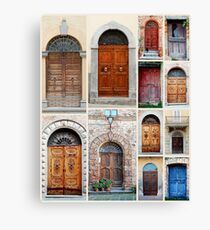 Italian Wooden Door Collage Canvas Print