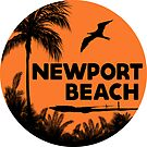 NEWPORT BEACH California Surfer Surfing Surfboard Ocean Beach Vacation 3 by MyHandmadeSigns