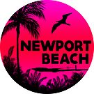 NEWPORT BEACH California Surfer Surfing Surfboard Ocean Beach Vacation 4 by MyHandmadeSigns
