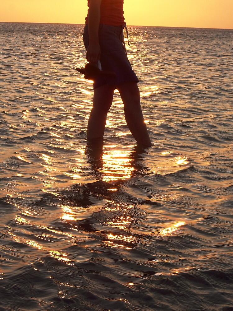 Dipping the feet by Chris Kean