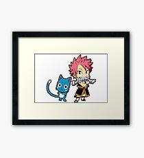 Natsu & Happy - Fairy tail Framed Print