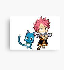 Natsu & Happy - Fairy tail Canvas Print