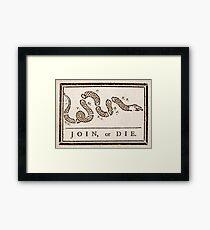 Benjamin Franklin's Join, or Die cartoon Framed Print