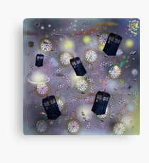 time and space dr who Canvas Print