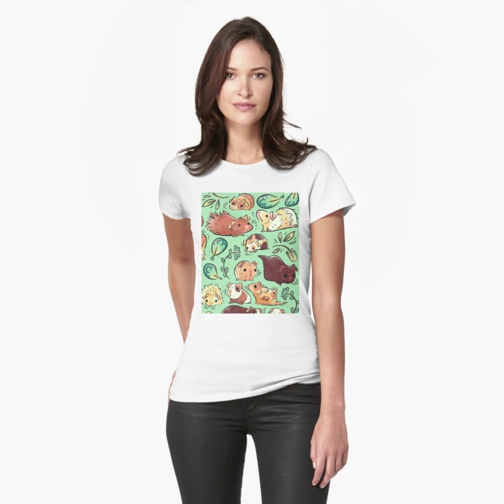 Meerschweinchen-Huddle Tailliertes T-Shirt