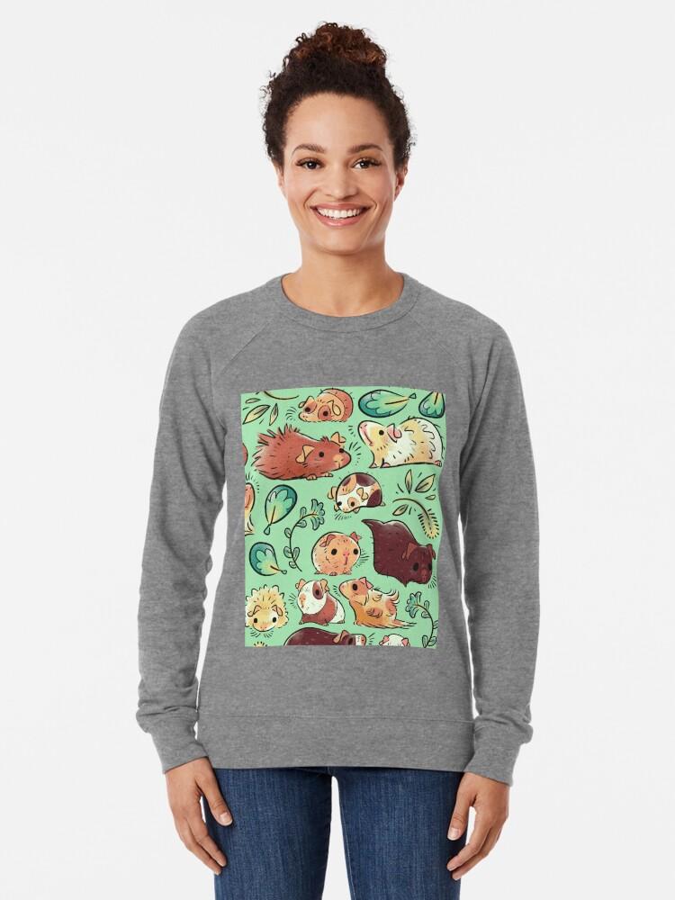 Alternative Ansicht von Meerschweinchen-Huddle Leichter Pullover