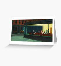 Tarjeta de felicitación Nighthawks by Edward Hopper 1942