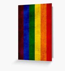 Gay pride flag Greeting Card
