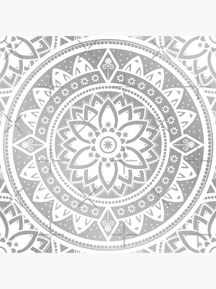 Gemusterte Blumen Mandala von ImageMonkey