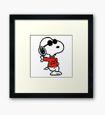 The Peanuts - Snoopy Joe Cool Framed Print