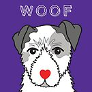 LOVEABLE JACK RUSSELL DOG DESIGN IN PURPLE by Kat Pearson