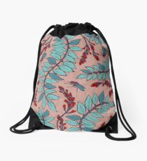 Sandelholz flower pattern Drawstring Bag