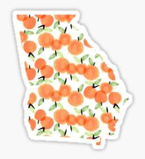Georgia Peaches Sticker