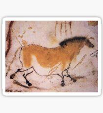 Cave, Horse, painting, dun horse, Equine, at Lascaux Sticker