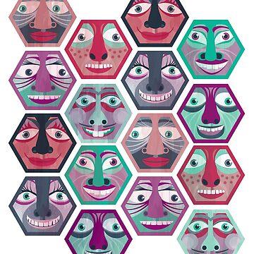 Hexagon Faces by NetaManor