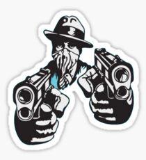 Al Capone Pointing Guns Sticker