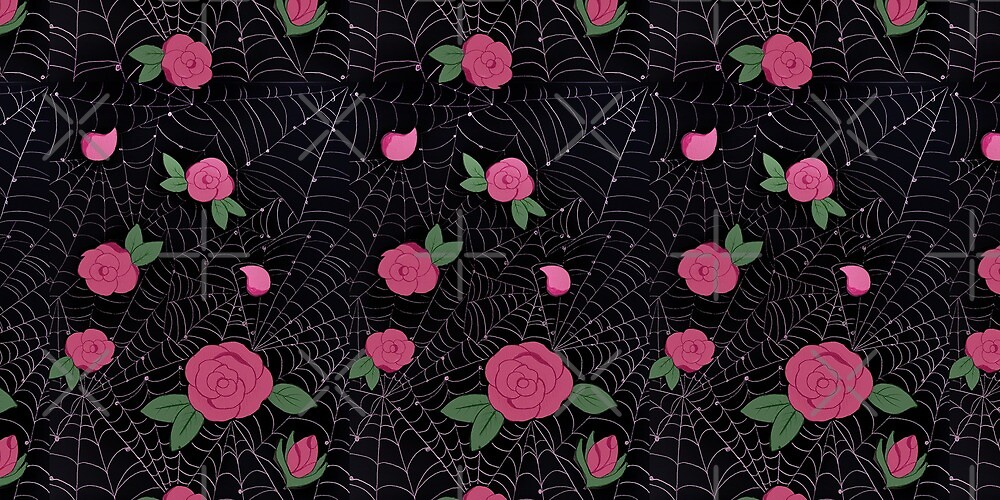 Floral Spider web pattern by Andreayoung
