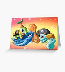 Turtle And Tortoise Pokemon Greeting Card