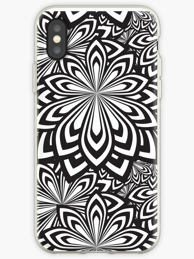 Black and White Abstract Flowers Design by Dv-Design