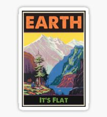 Earth - It's Flat Sticker