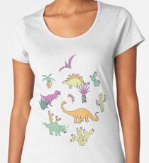 Dinosaur Desert Women's Premium T-Shirt