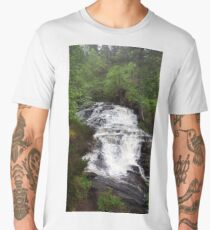 Scottish waterfall  Men's Premium T-Shirt