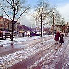 Winter walk on the Waterlooplein by J.K. York
