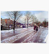 Winter walk on the Waterlooplein Poster