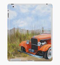 Historic Car on the Beach iPad Case/Skin
