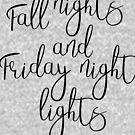 Herbst Nächte & Freitag Nacht Lichter von kjanedesigns