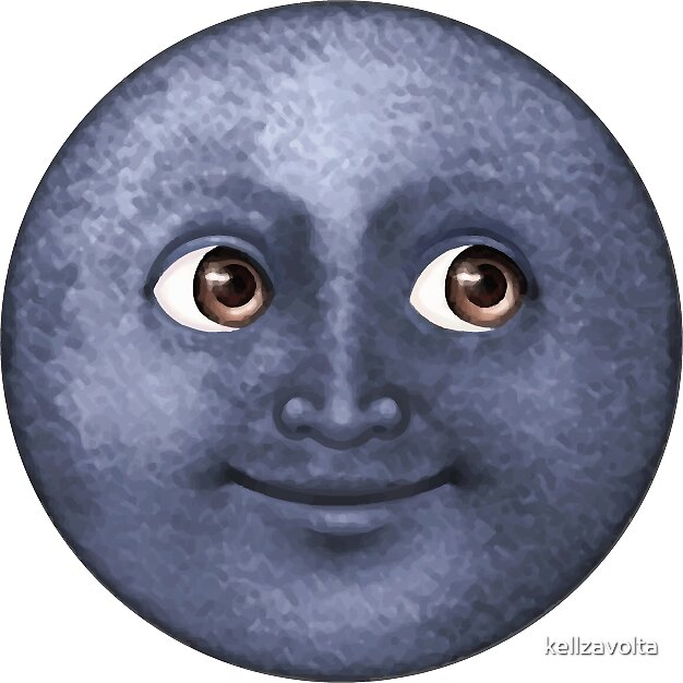 Quot Dark Blue Moon Face Emoji Quot Stickers By Kelly Z Redbubble