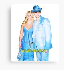 "Britney X Justin DENIM ""Never Forget"" Canvas Print"