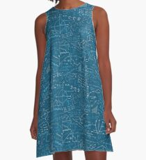 Math Lessons (Teal) A-Line Dress