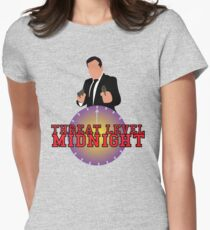 Threat Level Midnight Women's Fitted T-Shirt