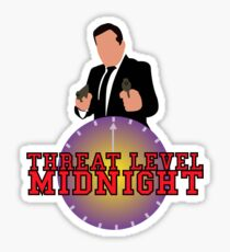 Threat Level Midnight Sticker