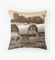 Caravans Throw Pillow