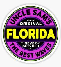SURFING FLORIDA THE BEST WAVES SURF SURFER UNCLE SAM'S WAX Sticker