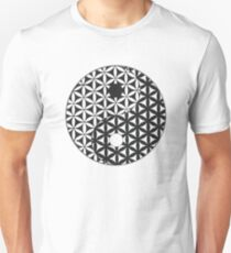 Flower of Life Space Time Yin Yang T-Shirt