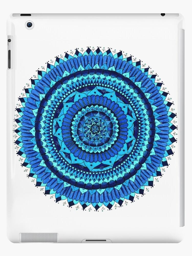 Blaue Mandala von Sorryimpaige