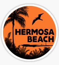 HERMOSA BEACH CALIFORNIA SURF OCEAN SURFING SURFER SURFBOARD STICKERS Sticker