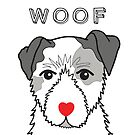 LOVEABLE JACK RUSSELL DOG DESIGN by Kat Pearson