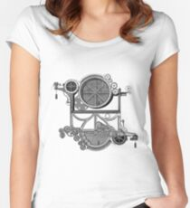 Daily Grind Machine Women's Fitted Scoop T-Shirt