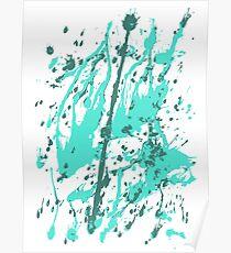 color blot spots green Poster