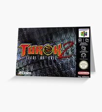 Turok 2 Box  Greeting Card