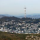 Sutro Tower on the San Bruno Mtn Ridge Trail by Stuart Green