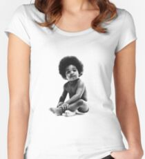 Ready to Die Notorious BIG replica baby print Women's Fitted Scoop T-Shirt